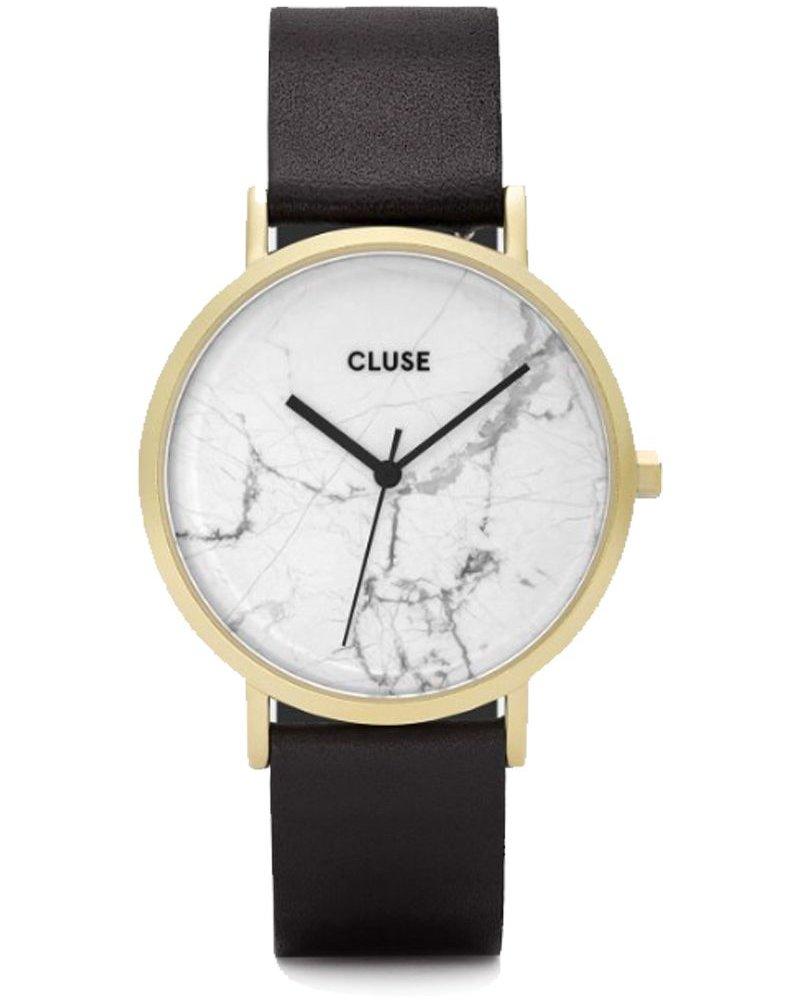 CLUSE / La Roche Gold White Marble/Black