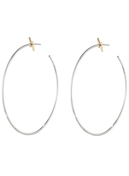 JENNY BIRD / Thunderstruck Hoops, Rhodium/Gold