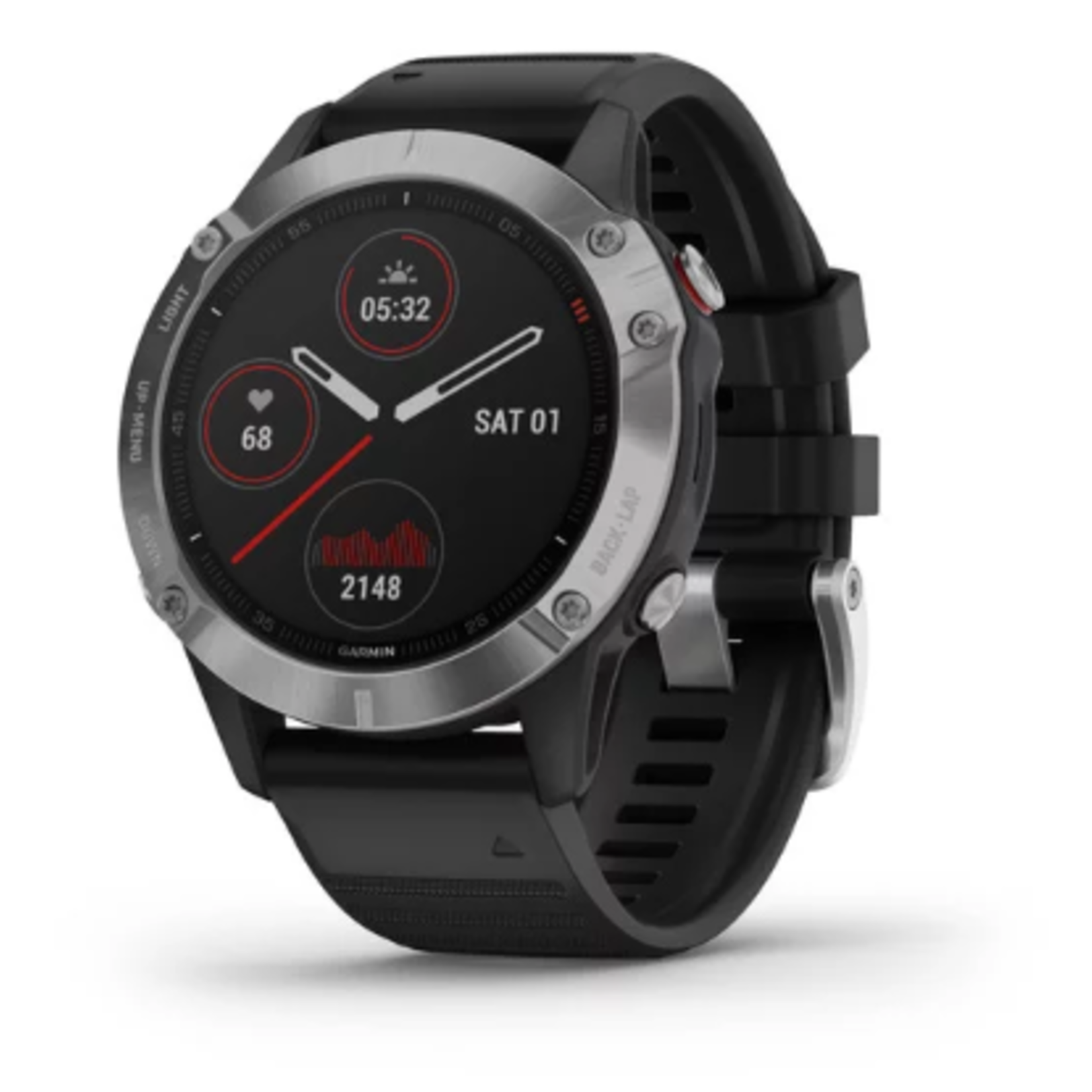fēnix® 6 - Silver with Black Band