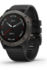 fēnix® 6X Sapphire - Carbon Gray DLC with Black Band
