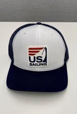 White & Navy Trucker Hat