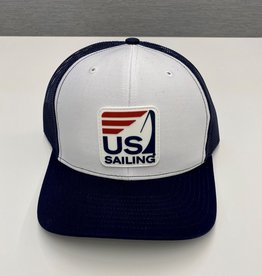 White & Navy Trucker Hat