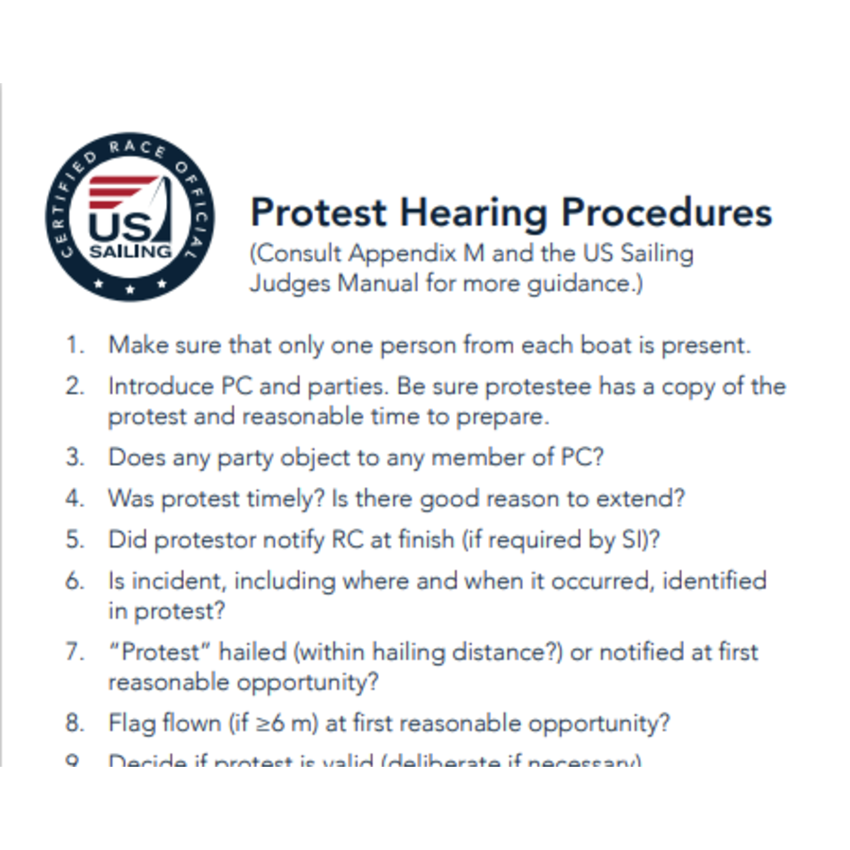 Protest Hearing Card