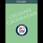 Cruising Catamaran Endorsement Sticker