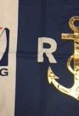 Race Officer Golden Anchor Flag for Certified Race Officers