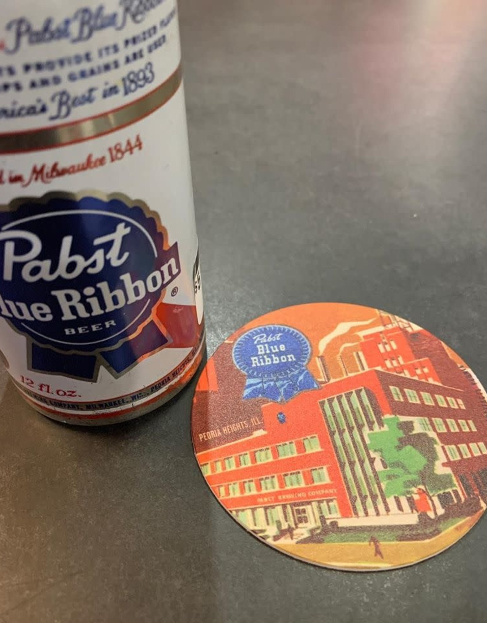 UA Merch Pabst Peoria Heights Brewery Coaster