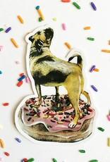 Pug Donut Sticker