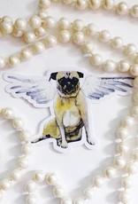 Pug Angel Sticker