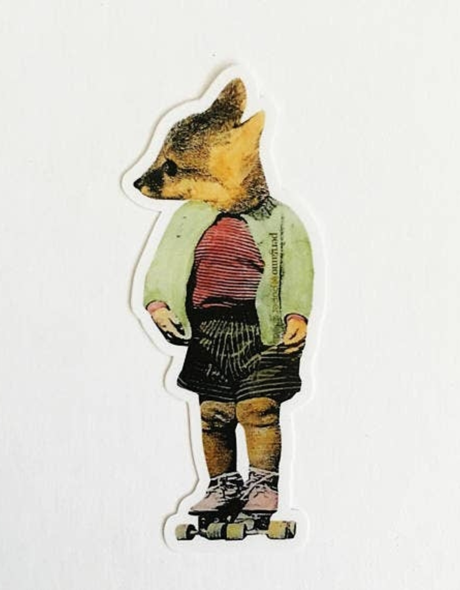 Fox Skating Sticker