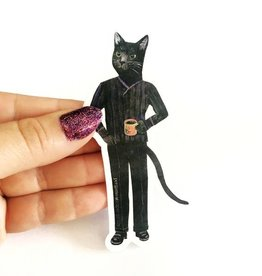 Black Cat Coffee Sticker