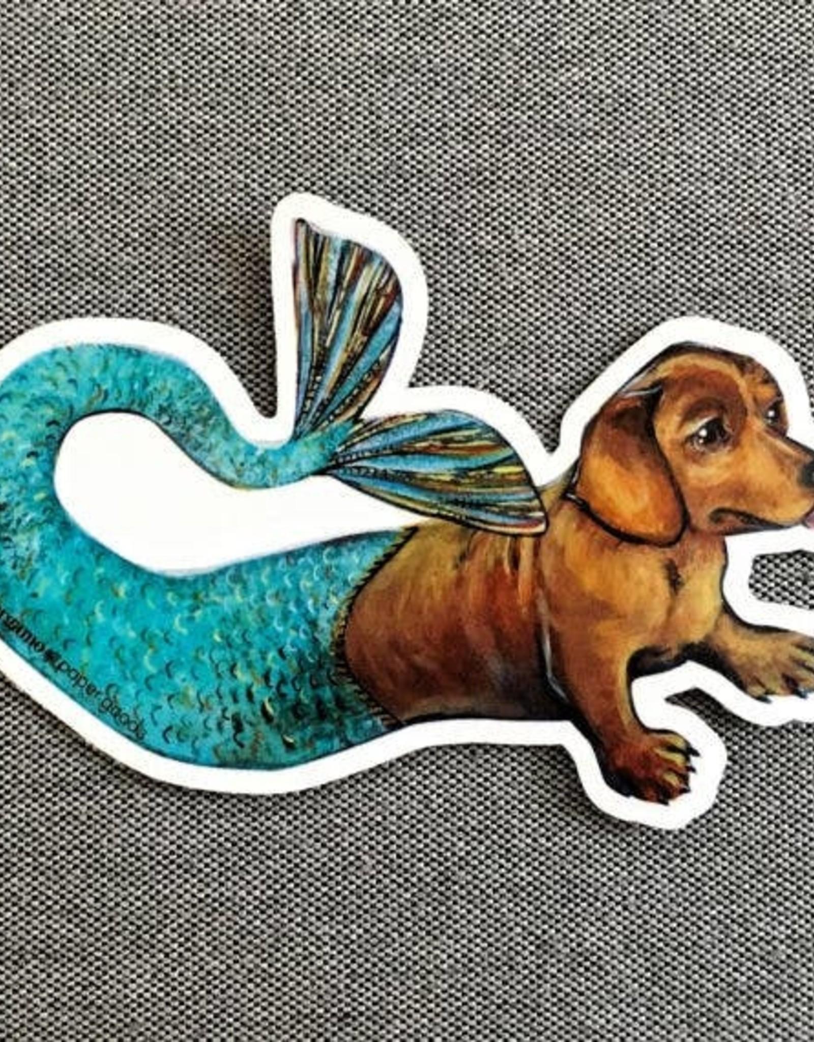 Dachshund Mermaid Sticker