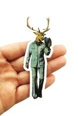 Deer w/hat Sticker