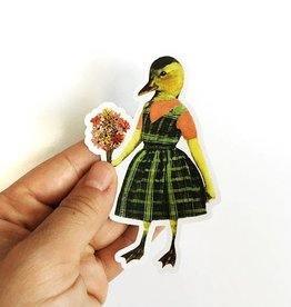 Duck Girl Sticker