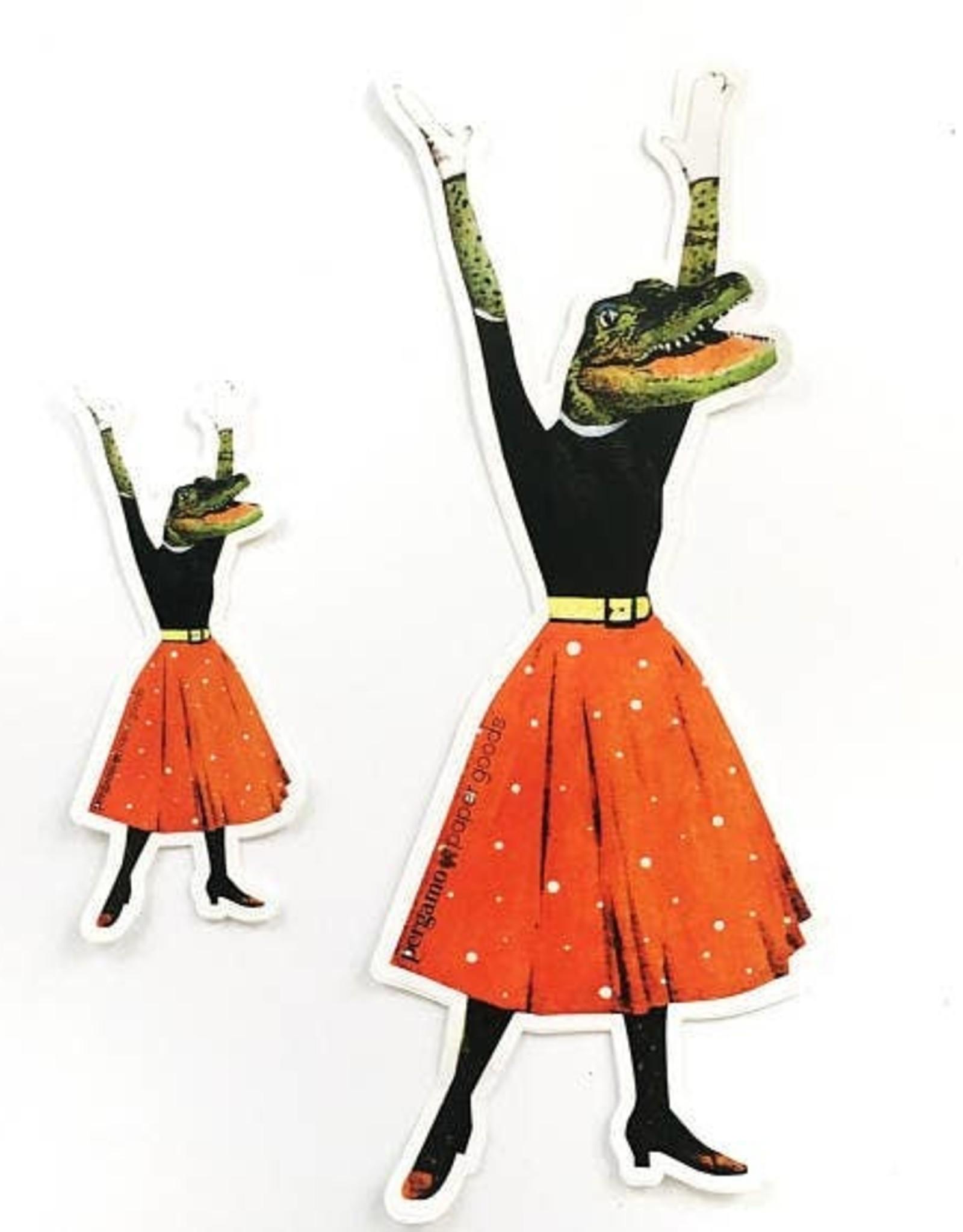 Alligator Lady Sticker