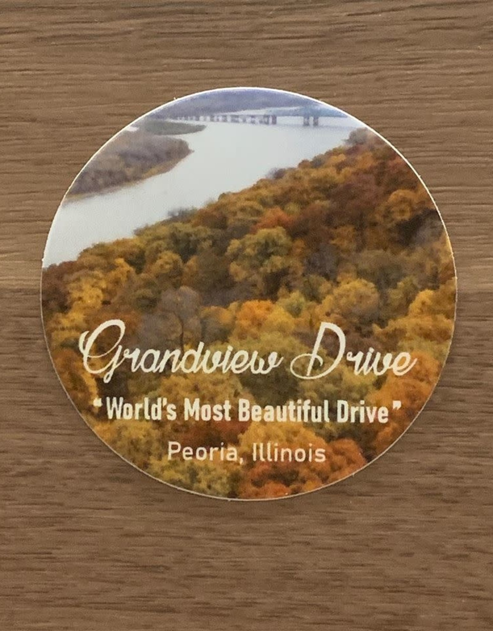 UA Merch Grand View Drive Sticker