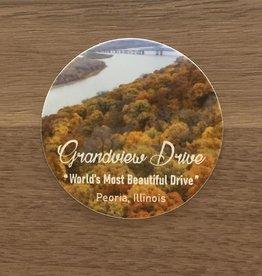 UA Merch Grand View Drive Sticker round