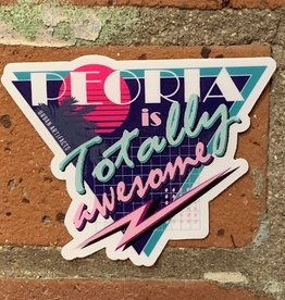 UA Merch Peoria Sticker Totally Awesome