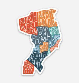 UA Merch Peoria Neighborhood Map Sticker