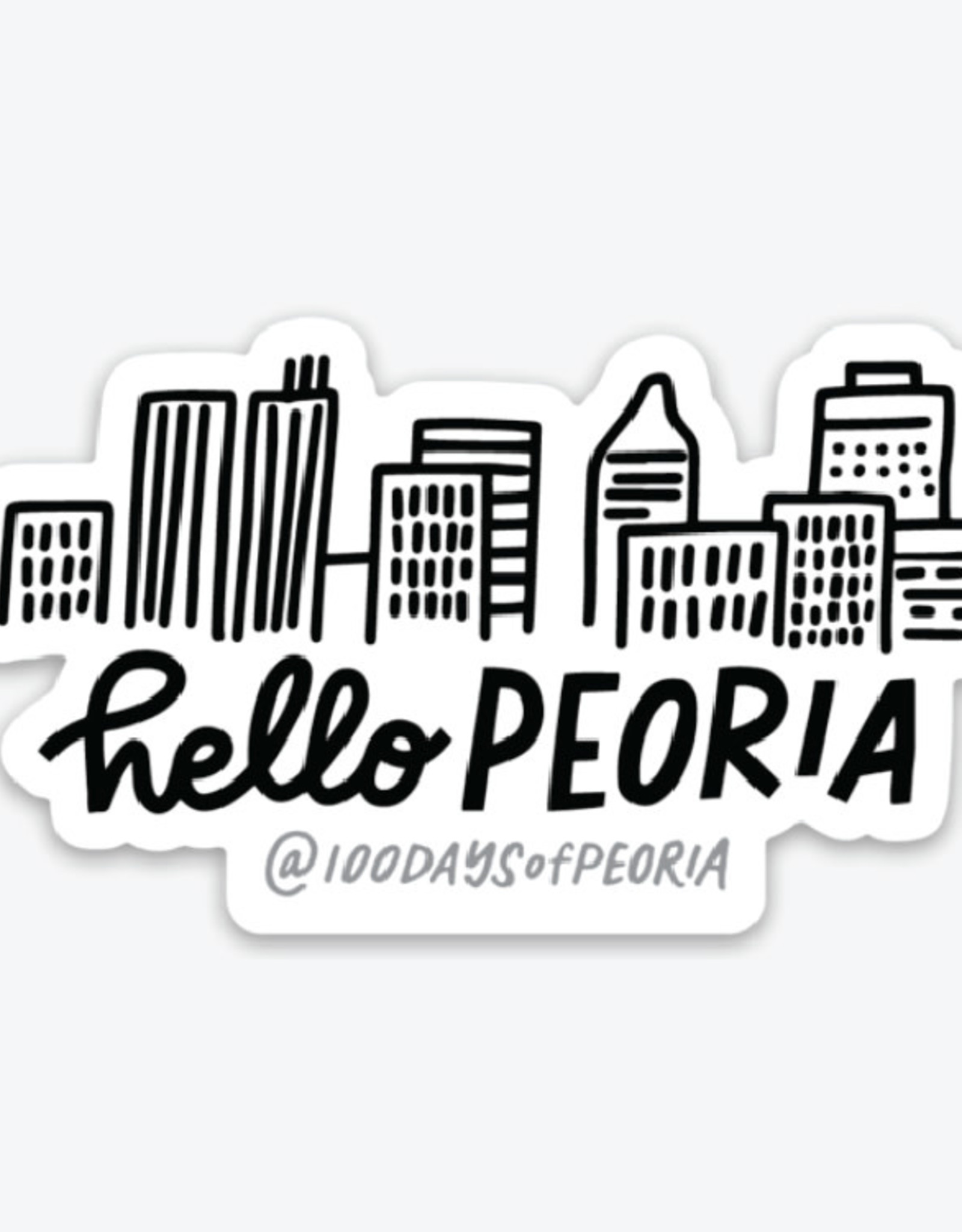 UA Merch Hello Peoria Skyline Sticker