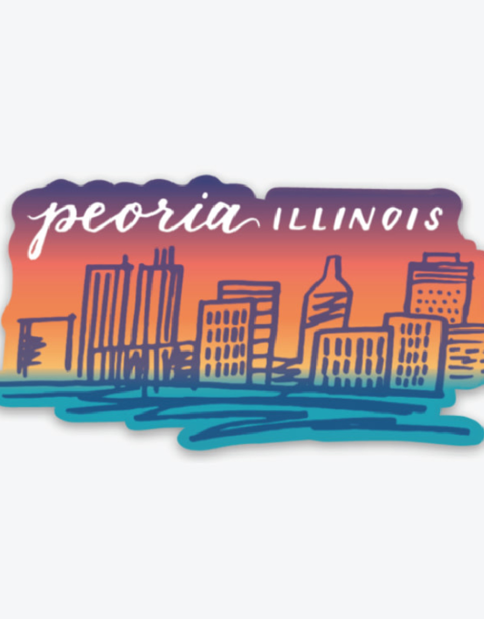 UA Merch Peoria Skyline Gradient Sticker