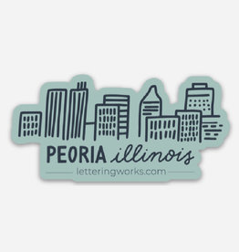 UA Merch Peoria Skyline Mint Magnet