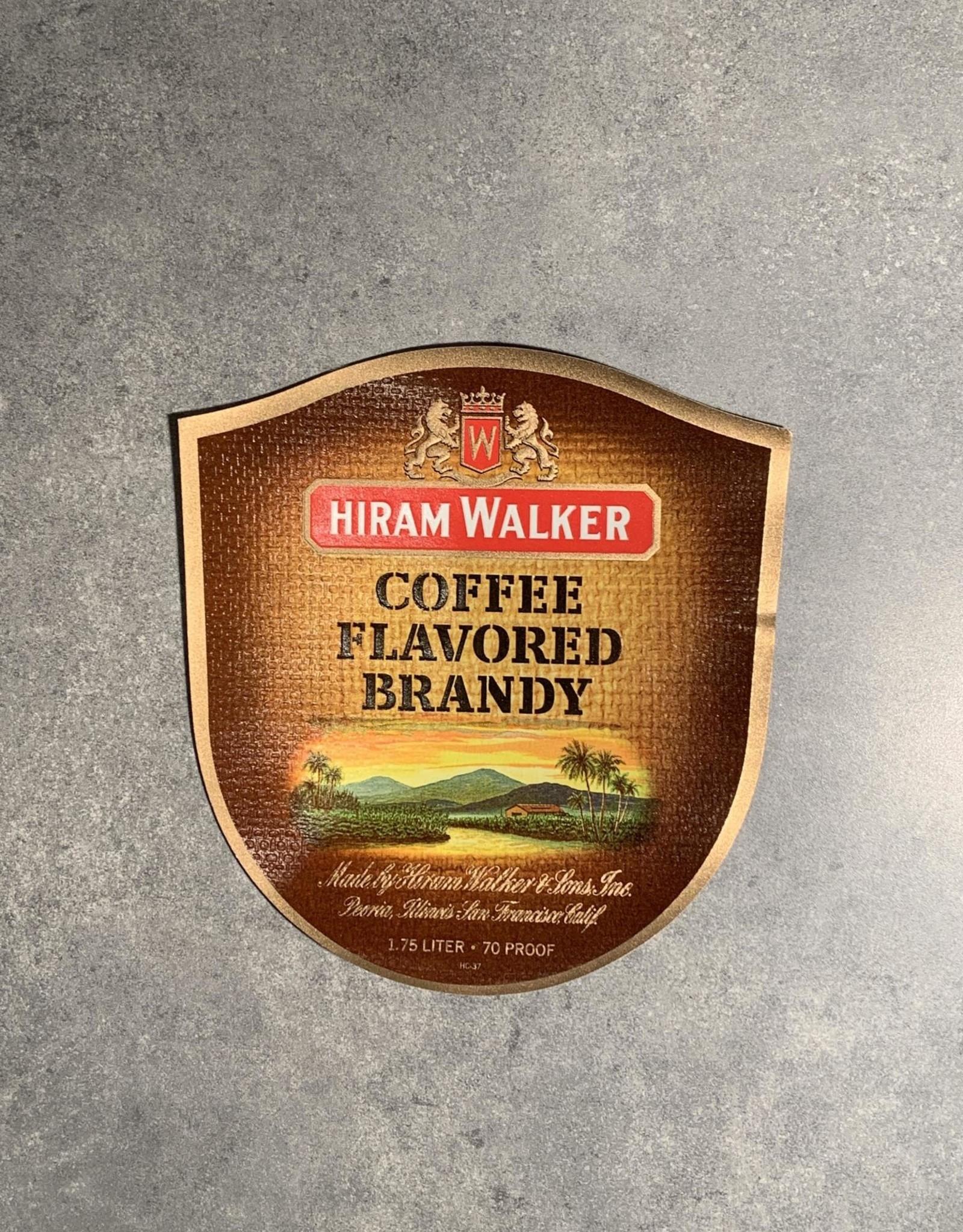 UA Merch Hiram Walker & Sons Peoria Il. Coffee Brandy Label
