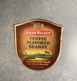 UA Merch Hiram Walker & Sons Peoria Il. Coffee Brandy Label