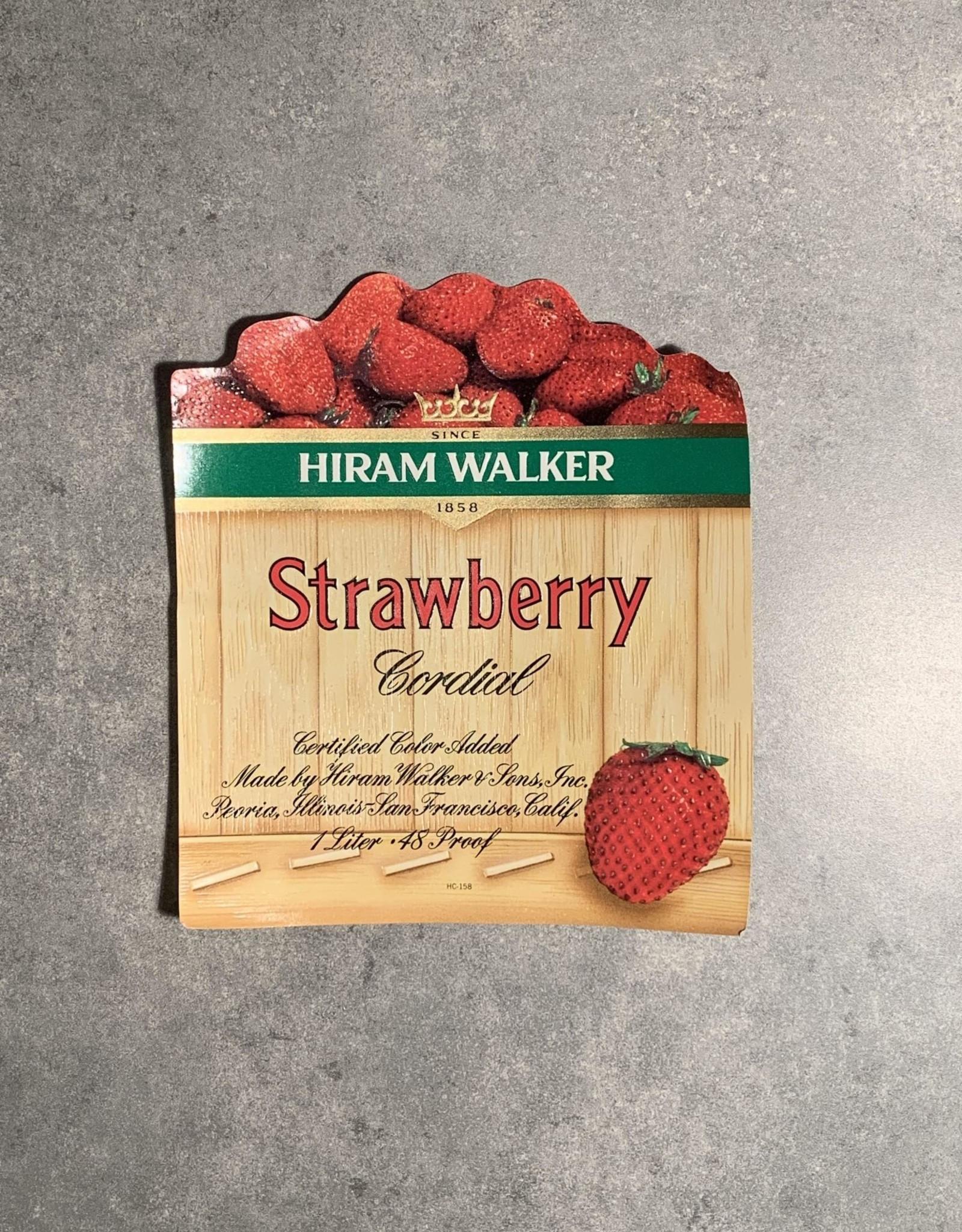 UA Merch Hiram Walker & Sons Peoria Il. Strawberry Cordial Label