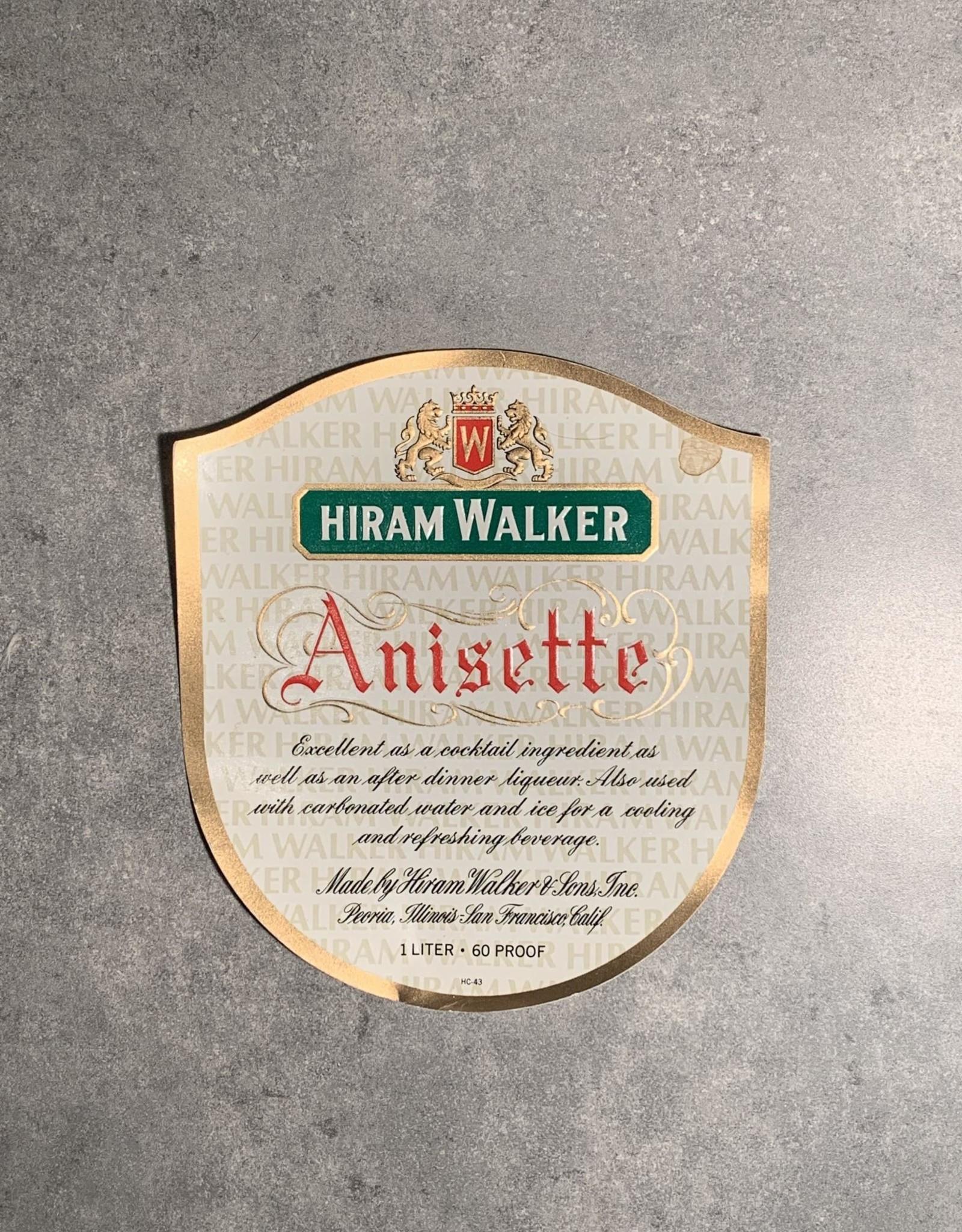 UA Merch Hiram Walker & Sons Peoria Il.  Anisette Label