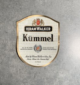 UA Merch Hiram Walker & Sons Peoria Il. Kummel Label