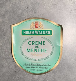 UA Merch Hiram Walker & Sons Peoria Il. Creme De Menthe Label