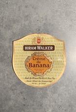 UA Merch Hiram Walker & Sons Peoria Il. Creme de Banana Label