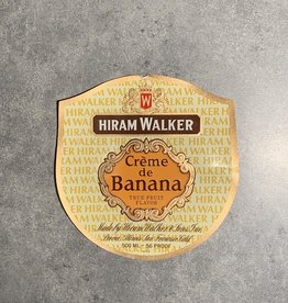 UA Merch Hiram Walker & Sons Peoria Il. Creme de Banana Label