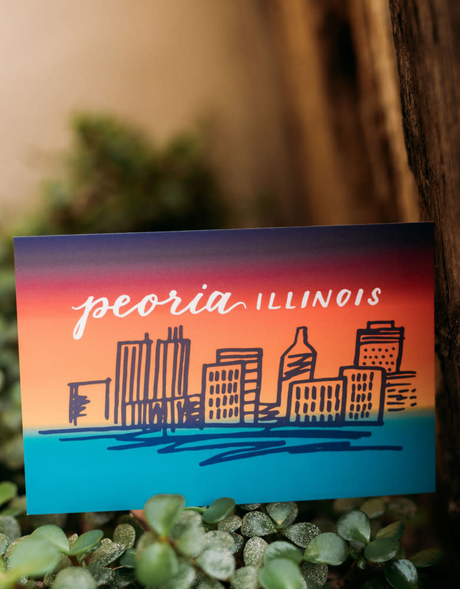 UA Merch Peoria Skyline (Gradient) Postcard