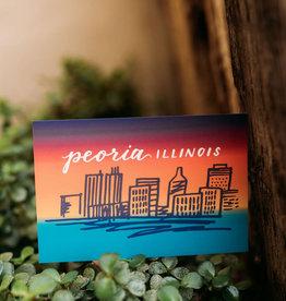 UA Merch Peoria Skyline (Gradient) Postcard