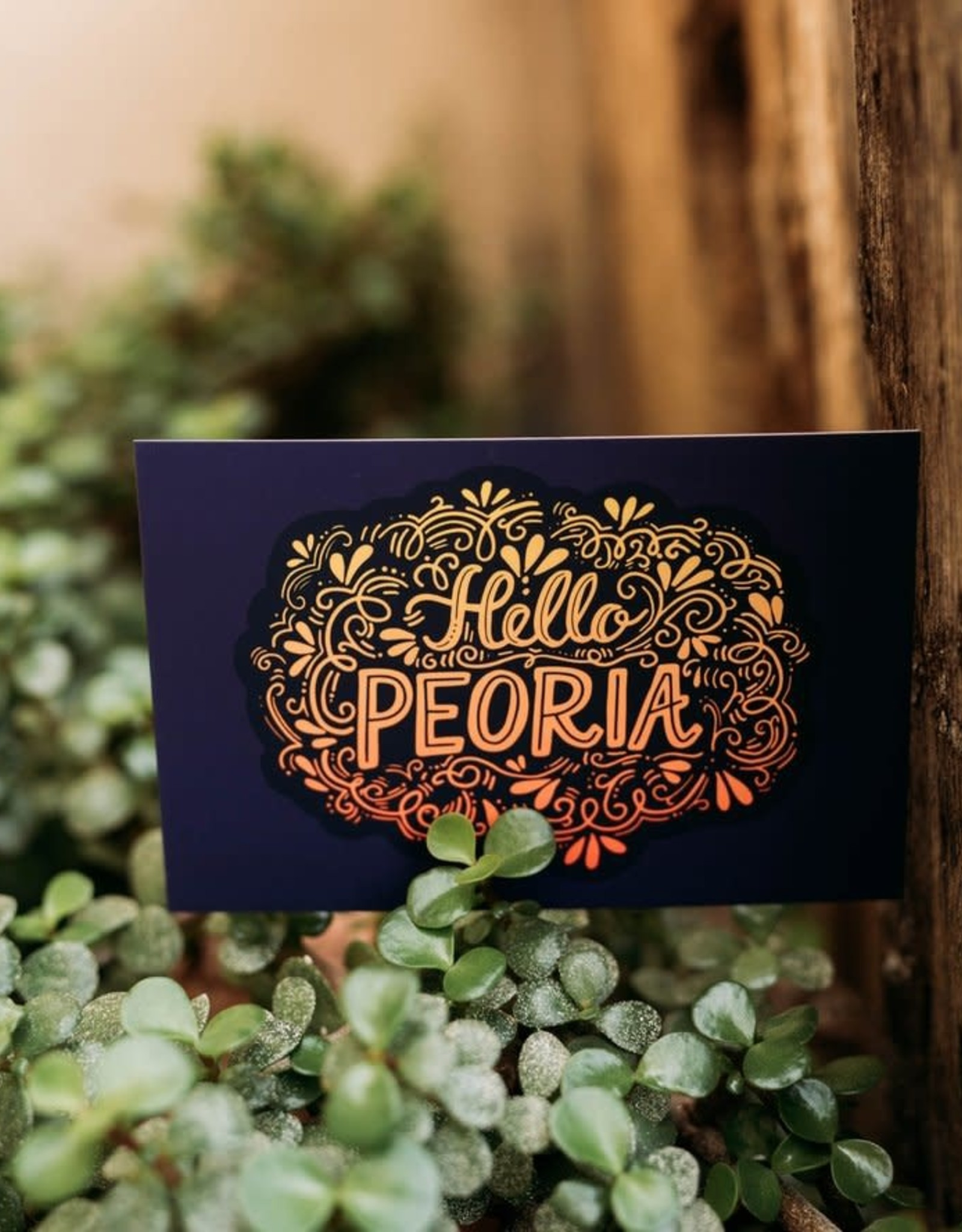 UA Merch Hello Peoria Postcard