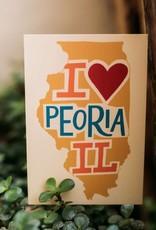 UA Merch I Heart Peoria Postcard