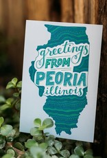 UA Merch Greetings from Peoria Silhouette Postcard