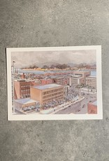 "UA Merch Peoria Note Card by Mort Greene  ""Downtown View"""