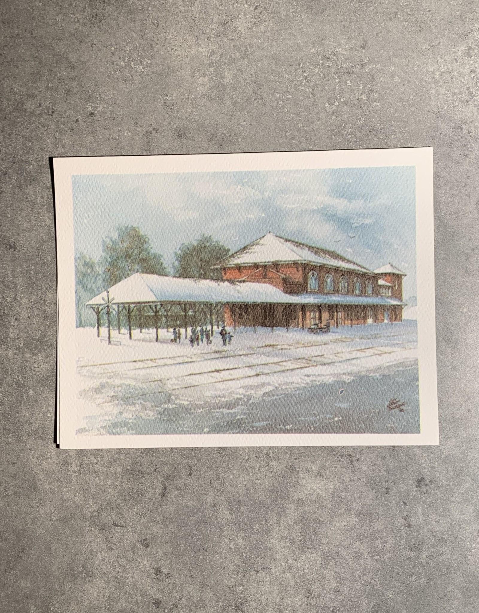 UA Merch Peoria Note Card by Mort Greene River Station Rock Island Depot