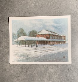 UA Merch Peoria Note Card by Mort Greene River Station Rock Island Depot