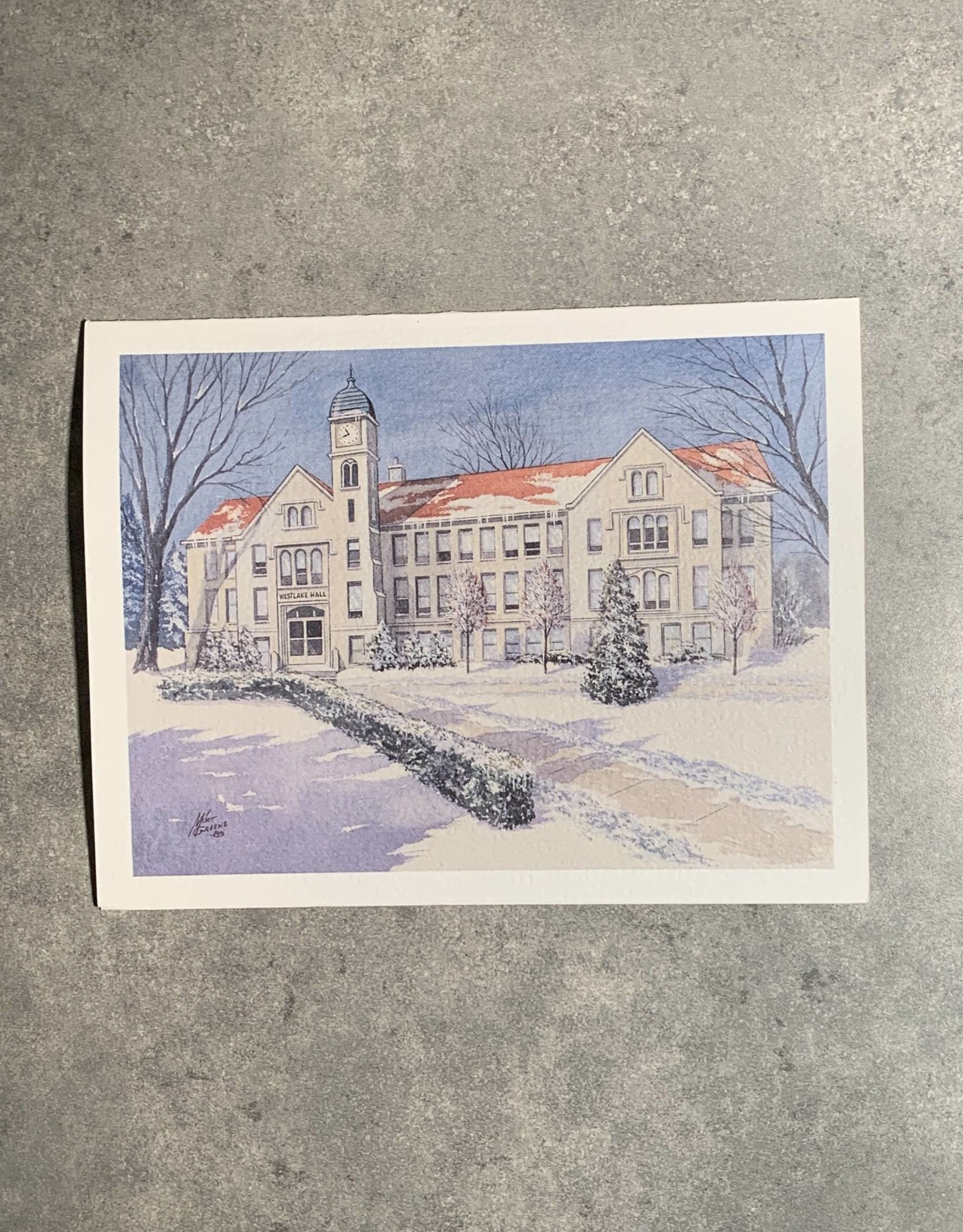 UA Merch Peoria Note Card by Mort Greene Bradley's Westlake Hall