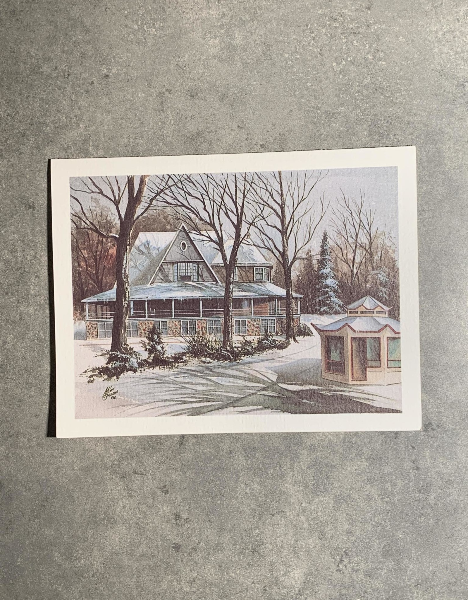 UA Merch Peoria Note Card by Mort Greene Glen Oak Park Pavilion