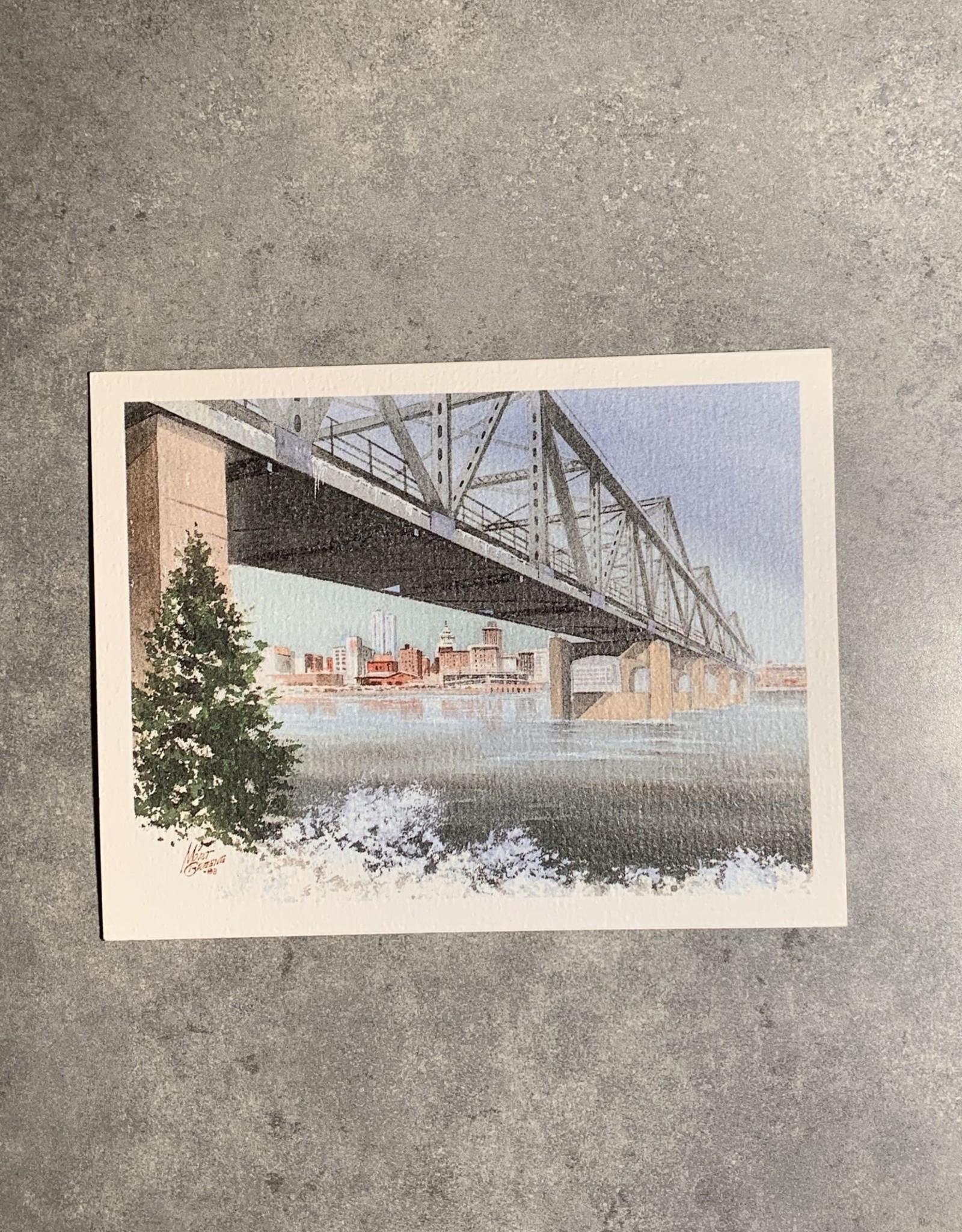 UA Merch Peoria Note Card by Mort Greene Skyline