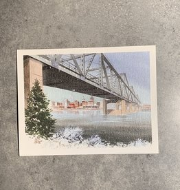 UA Merch Peoria Note Card by Mort Greene Skyline