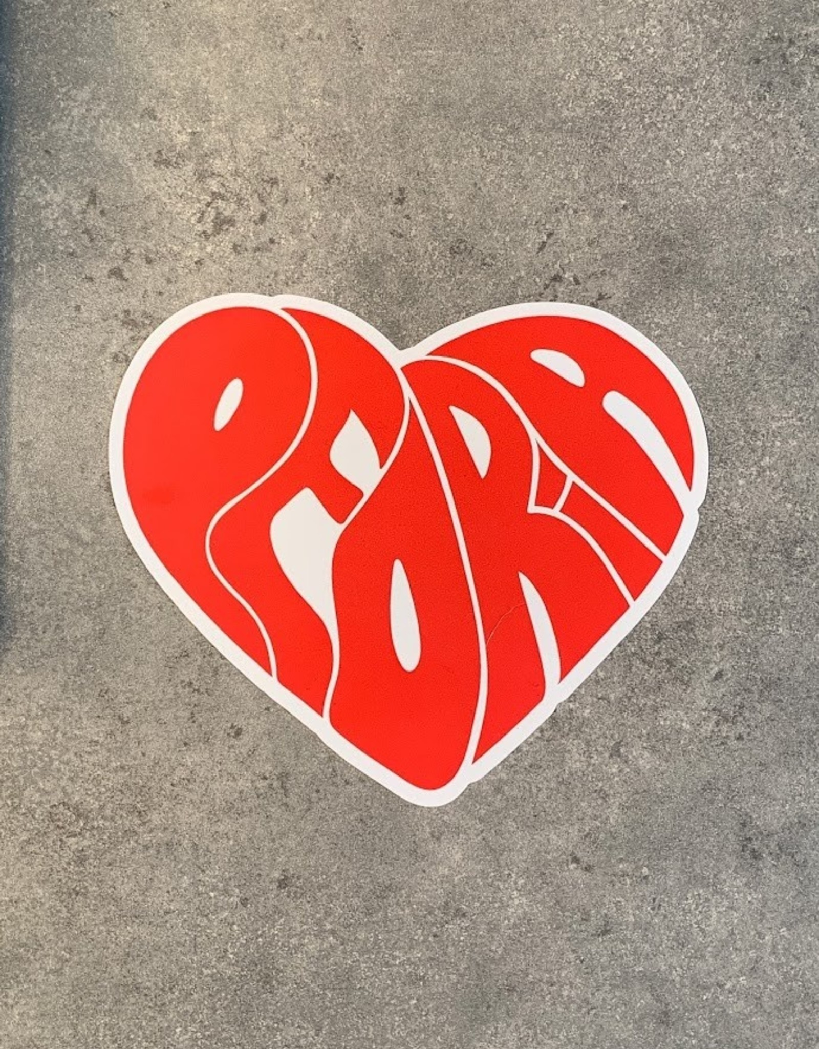 UA Merch Peoria Groovy Red Heart Decal