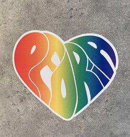 UA Merch Peoria Groovy Multi Colored Heart Decal