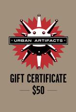 UA Merch Gift Certificate $50