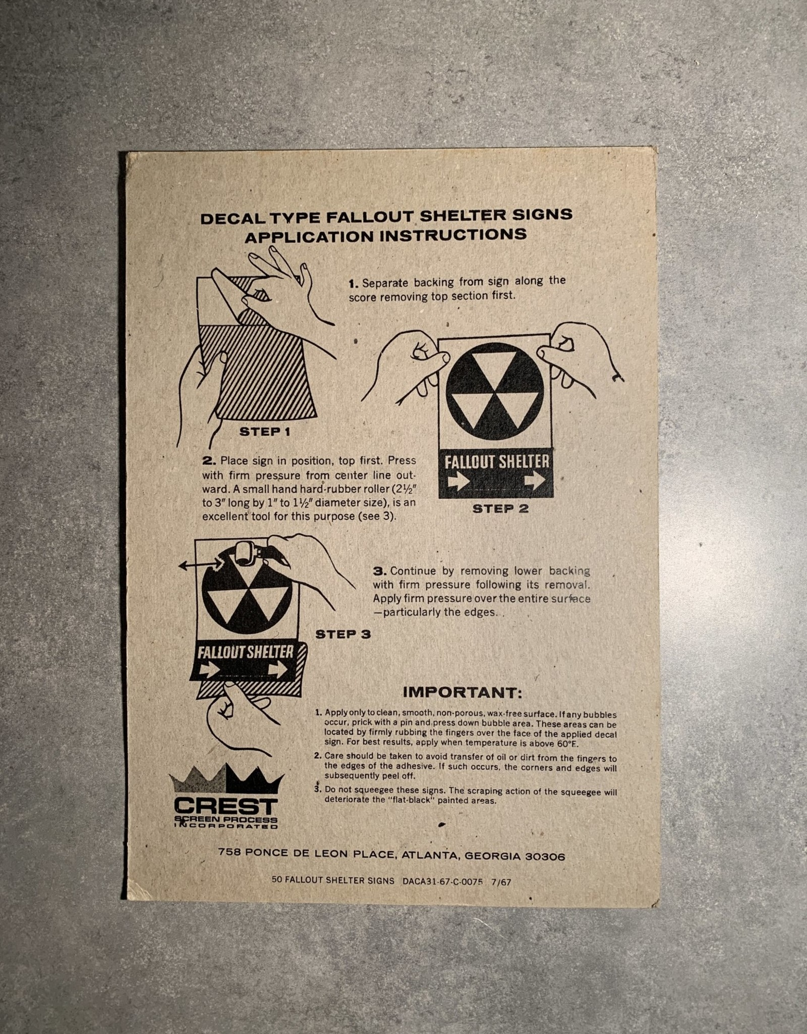 UA Merch Fallout Shelter Decal Down Arrow
