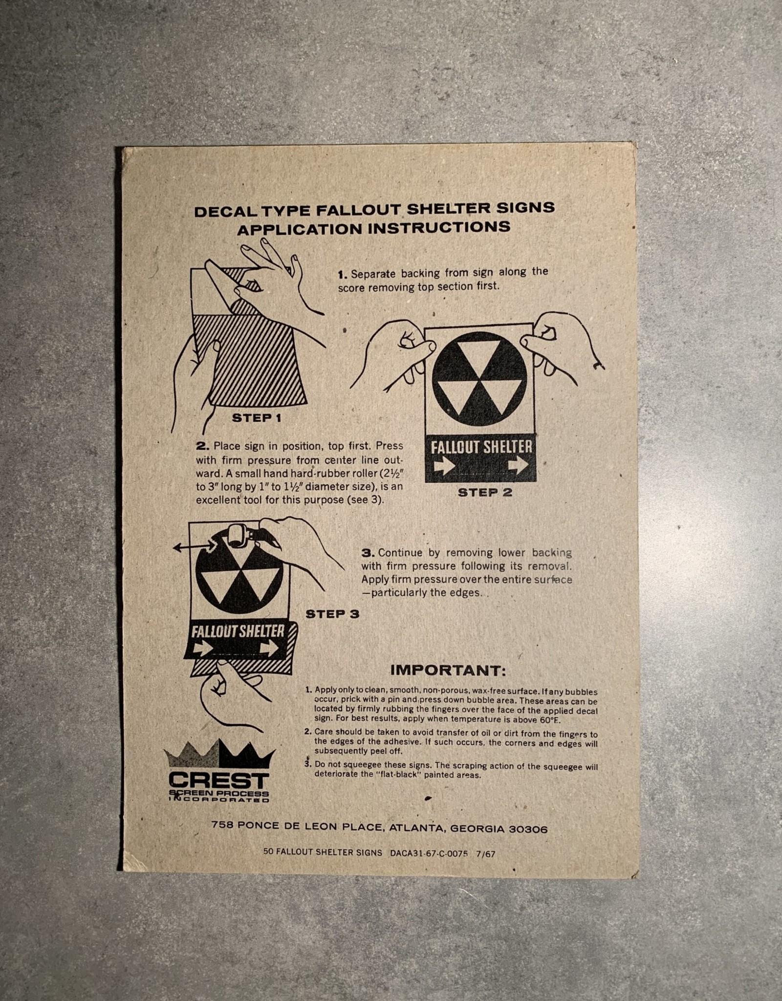 UA Merch Fallout Shelter Decal Forward Arrow
